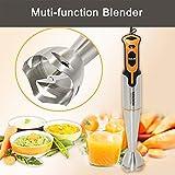 0Miaxudh Stabmixer, 700W Elektromixer Multifunktions-Küchen-Küchenmaschine-Stick-Milchshake-Entsafter-Mixer - EU Plug Orange