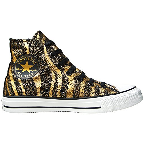 Converse Damen Chuck Taylor All Star Femme Animal Print Kurzschaft Stiefel, Schwarz (Black/Rich Gold), 41 EU (7.5 EU) (Rich Schuhe Gold)