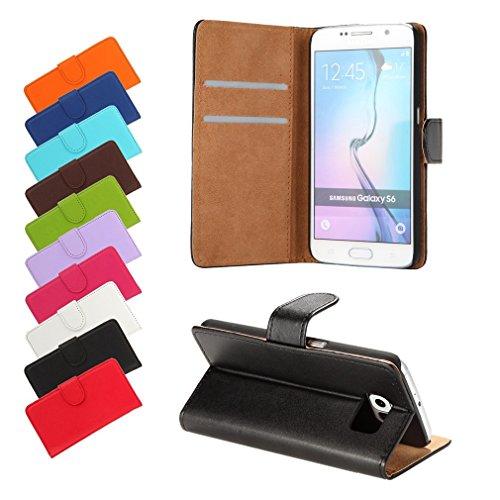BRALEXX A12631 Bookstyle Tasche für Samsung Galaxy S6 920F schwarz