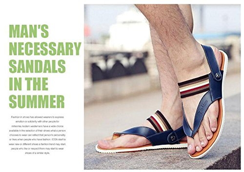 GLTER Herren Flip Flops Breathable Slingback Sandalen Neue Slippers Sommer Fashion Casual Beach Pool Schuhe Blue