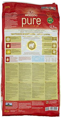 Mera Dog Pure 12.5 kg Truthahn & Kartoffel getreidefrei, 1er Pack (1 x 12.5 kg) - 3