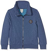Bench Boy's Zip Thro Funnel Sweat Sweatshirt, Blau (Ensign Blue Marl MA1035), 8 Years