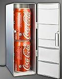 Mini-réfrigérateur USB Double Canette Bière Argent