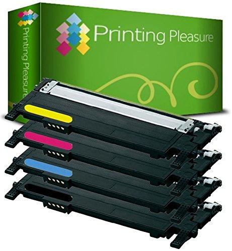 Printing Pleasure CLP320 Lot de 4 Toner Laser compatible pour Samsung CLP-320/CLP-325/CLX-3180/CLX-3185 - Noir/Cyan/Magenta/Jaune