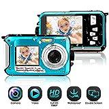 Appareil Photo Etanche sous Marin Caméscope 1080P FHD 24 MP Améra Vidéo Numérique Camescope Vidéo Selfie Action Caméra