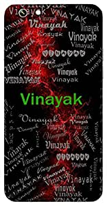 Vinayak (Ganesh, Buddha) Name & Sign Printed All over customize & Personalized!! Protective back cover for your Smart Phone : Samsung Galaxy Alpha