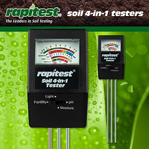 Rapitest Ph-meter (Luster Leaf 1880Rapitest Elektronische 4-Wege-Analysegerät Standard Pack of 1)