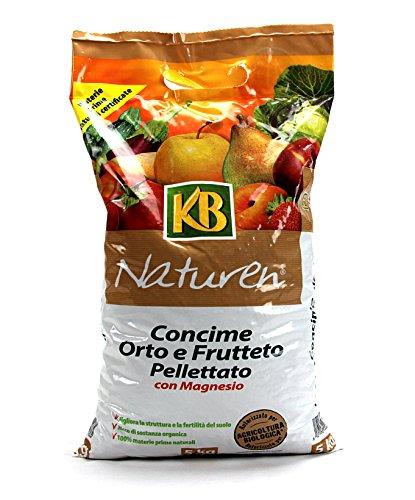 naturen kb bio concime orto e frutteto pellettato con magnesio per coltura biologico