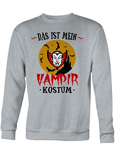 m Vampir Premium Sweatshirt | Verkleidung | Karneval | Fasching | Unisex | Sweatshirts, Farbe:Graumeliert;Größe:S (Günstige Vampir Kostüme Für Frauen)