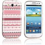 tinxi® Design Schutzhülle für Samsung Galaxy S3 i9300 Hülle TPU Silikon Rückschale Schutz Hülle Silicon Tasche Case pink Blumen und Rund