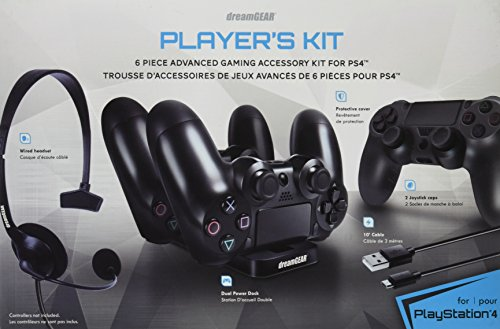 dreamGEAR – Player's Kit– includes charge dock/sync cable/headset/silicone controller cover