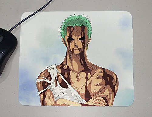 One Piece - Roronoa Zoro - Greatest Swordsman - Japanese Anime - Novelty Gift - Custom Name Mouse - Mouse Anime Pad