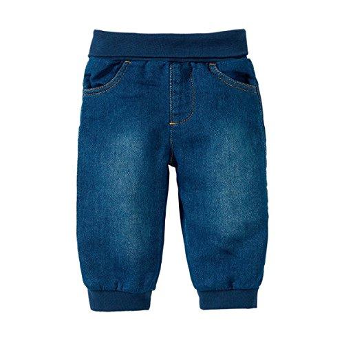 Bornino Basics Hose - Mädchen/Jungen, Jeansoptik, Denim, Farbe: blau, seitliche Einschubtaschen, Baumwolle, schadstoff geprüft, Öko-Tex Zertifiziert - Jeans Hose für Babys/Kinder