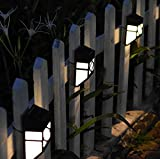 2xLED Solarleuchte Solarbetriebene Gartenleuchte Energie sparende Solarlampe Warmeiß Weiß Wasserdicht Außenleuchte IP65 Bodeneinbauleuchte für Outdoor Garten Geländer (Weiß)