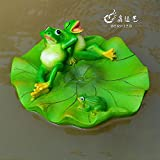 Ocamo Garden Outdoor Lawn Pool Floating Frog Model Sculpture Ornament Decor Resin Toy A Floating Frog