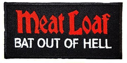Meat Loaf Bat Out Of Hell Cool Funny Biker Patch für DIY Bone Ghost Hog Outlaw Hot Rod Motorräder Rider Lady Biker Jacket T Shirt Patch Sew Iron on gesticktes Badge Schild Kostüm