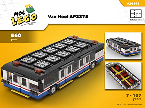 Van Hool AP2375 (Biggest bus in the world) (Instruction Only): MOC LEGO (English Edition) Van Moc