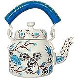 IHandikart Handicrafts Hand Painted Aluminum Tea Kettle Pot,Multicolor Tradition Tea Pot/Kettle Art Home And Garden Kitchen And Dining Serve Ware Table Ware Coffee & Tea (Royal Design) (1 Litre, 22 Cm), 5080…