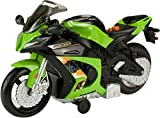Straße Rippers Kawasaki Ninja Motorrad Wheelie Weiß und Schwarz