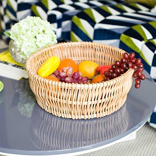Panier De Fruits Créatifs Rotin Willow Plateau De Fruits Plateau De Fruits Bonbons Salon Ménage Collations Panier À Pain Panier De Stockage -40Cm Couleur,Log