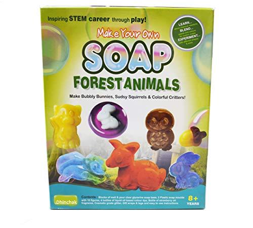 Dhinchaks Art Box Make Your Own Soap ( Forest Animal ) DIY Game for Kids