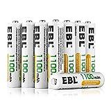 EBL 8 Stück 1100mAh hohe Kapazität AAA Ni-MH wieder aufladbare Batterien