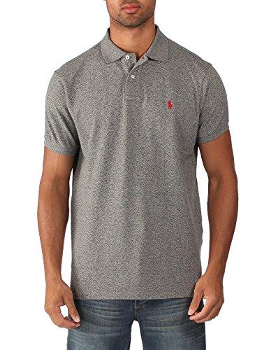 Ralph Lauren - Herren Polo-Shirt - Custom Fit - Dunkelgrau meliert Dunkelgrau Meliert