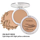 Gaddrt PHOERA Powder Concealer Matte Pearl Finishing Powder Pressed Powder 8 Farben Pulverkuchen (D)