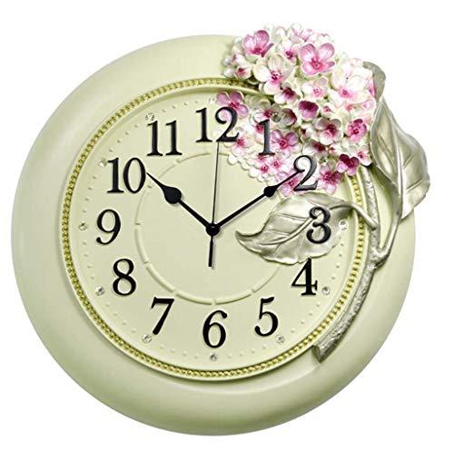 CMDDYY 001Große Wanduhr, Wohnzimmer, stille Uhr, kreative Uhrenkunst, Mode, Hortensien Harz, Hängehr,C