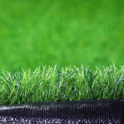 High-density Schwarz Tinte (YUER 2 mx 2 m |Florhöhe Marseille Kunstrasen |Günstige natürliche & realistisch aussehende Astro Garden Lawn |High Density Fake Turf |6 Fuß 7 Zoll x 6 Fuß 7 Zoll (Size : 25mm))