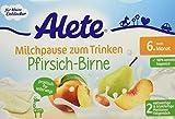 Alete Milchpause zum Trinken Pfirsich-Birne, 6er Pack (6 x 400 ml)