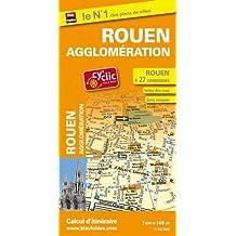 Plan de ville Rouen et de son agglomération (27 communes) - Avec localisation des stations Cy'clic.