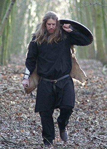 16. Jahrhundert Männer-kleidung (Mittelalterliche Tunika, schwarz von Battle-Merchant - Römer Wikinger Mittelalter LARP Größe XXXL)