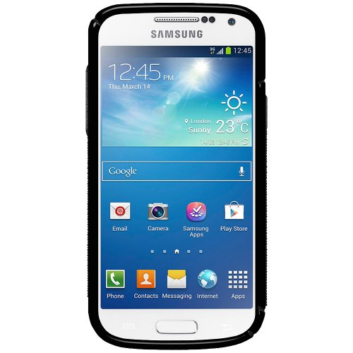 Amzer 95874 TPU Hybrid Case - Black for Samsung Galaxy S4 Mini Duos GT-I9192, Samsung Galaxy S4 Mini GT-I9190