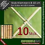 10 Stück Klammern für Bambusstäbe zum Bau von Rankgerüsten oder Kletterhilfen.