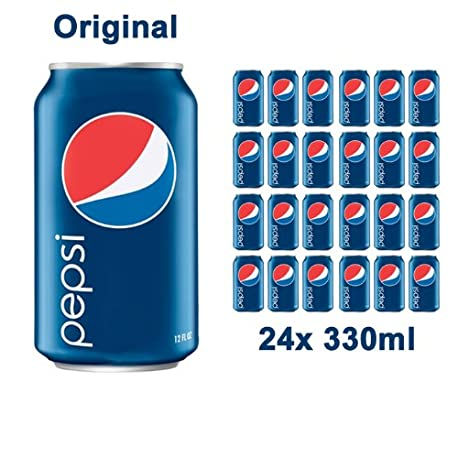 Pepsi Refresco con Aroma Cola Paquete de 8 x 330 ml Total 2640 ml