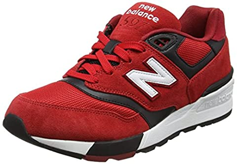 New Balance Men 597 Low-Top Sneakers, Multicolor (Red/Black), 10.5 UK