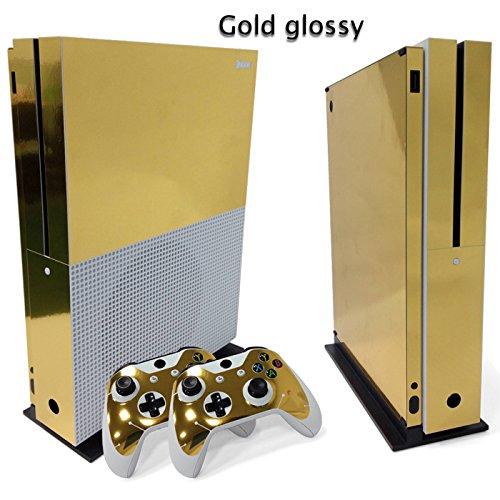 Mcbazel Adesivo della pelle del vinile delle decalcomanie della serie di modello per Xbox One S (oro)