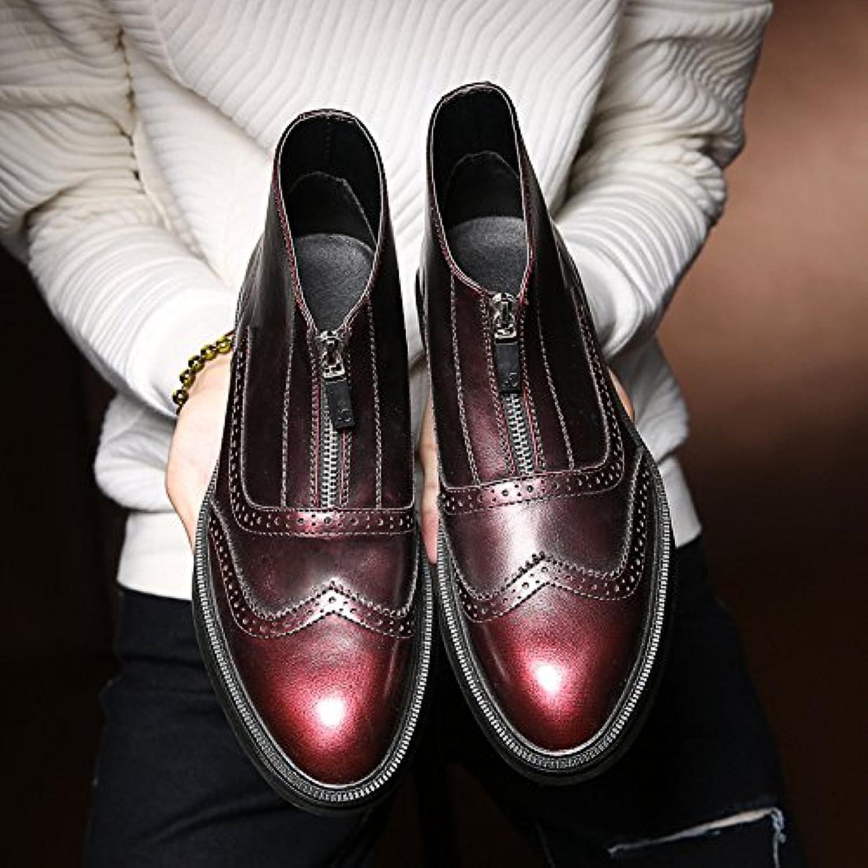Männer   mode  freizeit   und chelsea   stiefel des kreativen chelsea boots Rot   rot Raptors