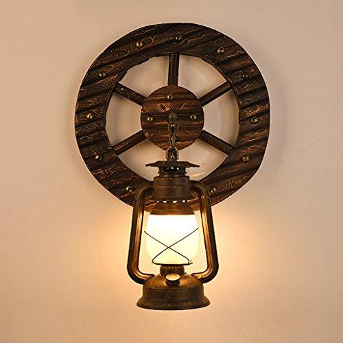 Good thing Applique Lampe de cheval Lampe murale Lampe murale de corridor d'allée Lampe rétro rétro de kérosène nostalgique Lampe de chambre américaine Woody
