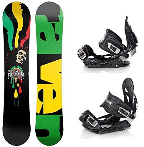 Snowboard Set: Snowboard Raven Rasta Carbon Rocker + Bindung Raven s400 Black M/L