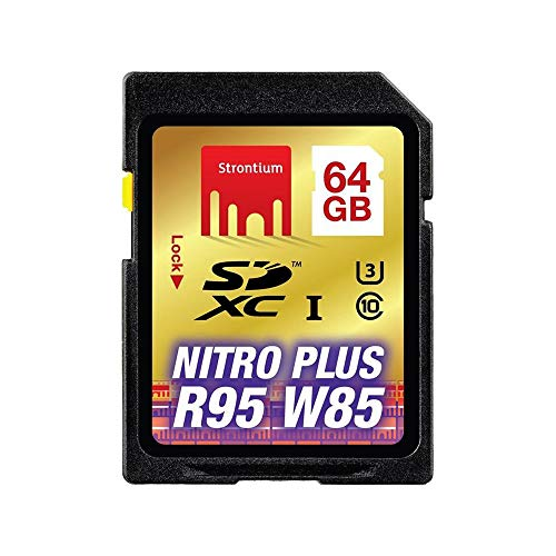 Strontium Nitro Plus 64GB UHS-I U3 Class 10 SDXC Card (SRP64GSDU1) Micro SD at amazon
