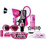 WEnjoy Pretend Hair Salon Kit Beauty Salon Fashion Play Set With Hairdryer Mirror & Hair Styling Accessories With A Beauty Waist Bag