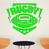 zqyjhkou Rugby Sport Wandaufkleber Für Kinderzimmer Wohnzimmer Tapeten Aufkleber Vinyl Wandkunst...