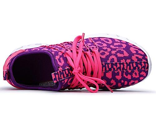 IIIIS-R Uomo Donna Ginnastica Trekking Estive Sneakers Sportive Nero Rosso Blu Verde Rosa Rosa