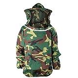 Blouse Costume Equipement de Protection Professionnel Anti Abeille pour Apiculture Apiculteur - Vert Camo