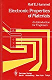 Electronic Properties of Materials: An Introduction for Engineers