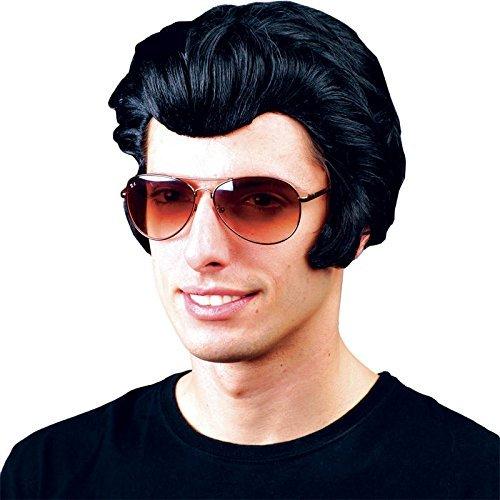 Herren 1950er Rocker Haartolle Perücke - Fett, Elvis, - Fett Kostüm Danny