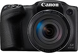 Canon PowerShot SX430 IS BLACK Digital Camera | 20 MP | 45x Optical Zoom | With 8GB memory card and camera case