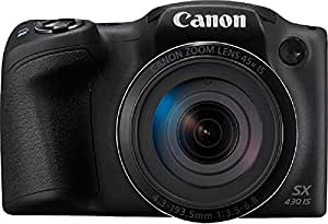 Canon PowerShot SX430B 20MP Digital Camera with 45x Optical Zoom (Black) + 16GB Memory Card + Camera Case